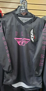 FLY RACING YOUTH F-16 JERSEY - BLACK/PINK - FLAWED!!!