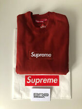 supreme Box Logo Crewneck FW18 Rust Red Size Large