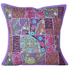 Cushion Cover Patchwork Pillow Indian 16 Handmade Case Decor Sofa Embroidered