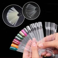 50Pcs Nail False Display Nail Art Fan Wheel Polish Color Practice Pop Tip Sticks