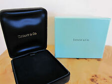 Authentic Black Suede Tiffany & Co. Pendant box BRAND NEW