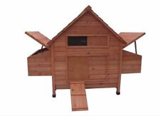 New Large Wood Chicken Coop Backyard Hen House 5-8 Chickens w 6 nesting box