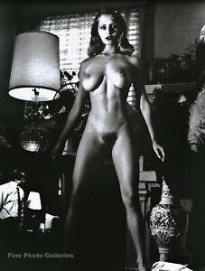 1980s Vintage HELMUT NEWTON Female Nude Woman Fashion Duotone Photo Art 16X20