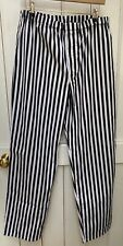 More details for tibard ltd black white striped elasticated chef trousers xl