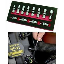 Drive Flex Socket Set Mechanic Tool Metric Repair Garage Swivel 12 Piece 1/4