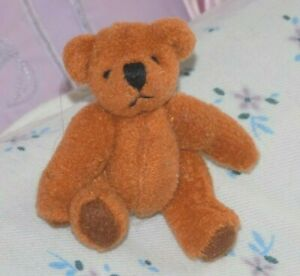 A Vintage Quality 6.5cm Schuco Miniature Jointed Brown Teddy Bear