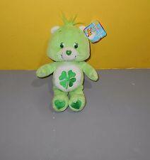 "8"" Good Luck Bear Shamrock Care Bears Bean Plush 2002 Play Along Toys"