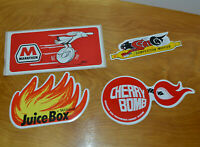 VINTAGE CAR HOT ROD DECALS STICKERS MARATHON OIL WILLARD JUICE BOX SCAT CAT