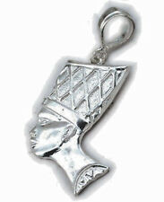 African Queen Lady Charm Sterling Silver 925 Nefertiti Pendants Jewelry Gift