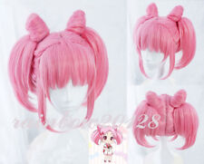 Pink Sailor Moon Sailor Chibi Moon Chibiusa Rini Cosplay Costume Wig