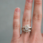 0.50 Ctw Round Diamond 14K Yellow Gold Over Enhancer Wrap Guard Engagement Ring