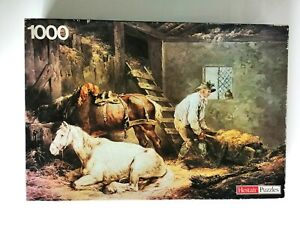 VINTAGE RETRO HESTAIR 1000 PIECE JIGSAW PUZZLE M1001 THE STABLE by MORLAND HORSE
