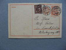 GERMANY INFLATION, uprated revalued prestamped PC (card) 29-08-1922, total 1,50