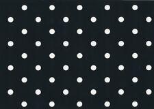 Klebefolie Möbelfolie Schwarz Punkte Dots 0,45 m x 15 m Bastelfolie Dekorfolie