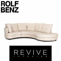 Rolf Benz Leder Ecksofa Creme Sofa Couch #14393