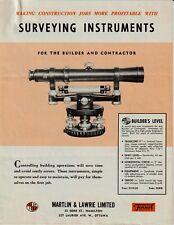 Original Fennel Kassel Surveying Instruments 4-Page Sales Ad Brochure