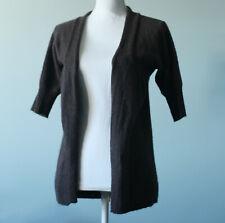 Vertigo Paris Brown Open Cardigan Sweater Angora Wool Soft Women's Size M