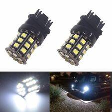 JDM ASTAR 2x 2835 33-SMD 3157 3156 White LED Turn Signal Brake Tail Lights Bulbs