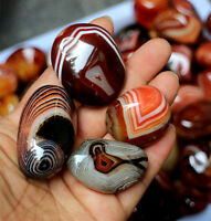 5PCS Madagascar Banded Agate Tumbled Beautiful Patterns Randomly Send