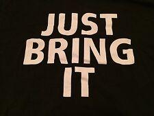 The Rock Just Bring It T-Shirt Large L WWE WWF Dwayne Johnson Brahma Bull NXT