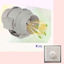 "6"" Inch Duct Fan Booster Exhaust Blower Vent kitchen Ventilation Exhaust Fan"