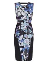 MaxMara Sportmax Black & Floral Mesh Panel Dress NEW UK 10