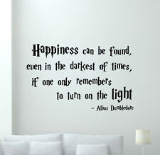 Harry Potter Quotes Wall Decal Albus Dumbledore Vinyl Sticker Art Mural 89crt