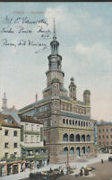 Posen Rathaus  mit Geschäften  L.Krause  ....1914