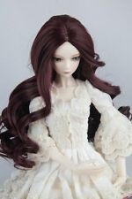 """BJD Doll Hair Wig 6-7"""" 1/6 SD DZ DOD LUTS Wine Red Long Curly Hair"""
