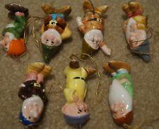 Disney Christmas ornaments, Snow White & the 7 Dwarves, porcelain
