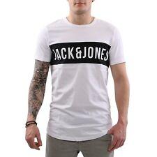 JACK & JONES Herren Rundhals T-Shirt JCOCHARLIE TEE SS White Größe S