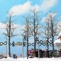 BUSCH 6158 - Kit 4 alberi invernali spogli. Scala h0 4pz.