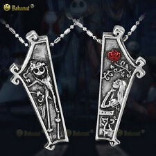 Retro The Nightmare Before Christmas Jack Sally Pendants For lovers Necklaces