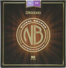 D'Addario Nickel Bronze Custom Light Acoustic Guitar Strings 11-52