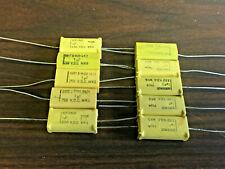 10 Pcs 1uf Axial Capacitors 250v Volt Volts Dc Vdc Nos