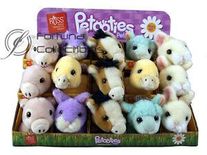 "PETOOTIES PETS 4"" 10cm Plush Spring Series Pig Horse Bunny Duck Lamb - Assorted"