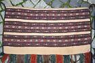 Terrific Antique Collectors Piece Tribal Yomud Sumak Kilim Rolling Pin Rug Bag