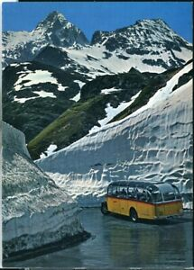 Postcard Postauto Sustenpass Switzerland 1970s original