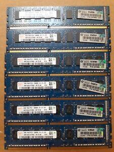 USED Hynix 12 GB (2GBx6) PC3-10600E Memory Ram 1Rx8