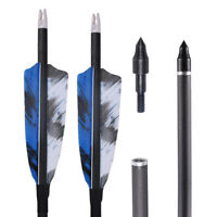 31'' Carbon Arrows Natural feather for Hunting Compound/Recurve Bow Archery