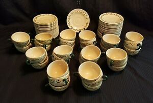 METLOX POPPYTRAIL GREEN ROOSTER TEA CUP AND SAUCERS SETS 30 SETS AVAILABLE