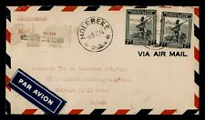 DR WHO 1943 BELGIAN CONGO MOERBEKE TO USA REGISTERED AIR MAIL C206047
