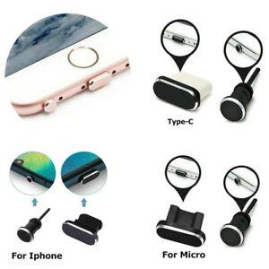 2 x Phone Dust Plug Sets USB For IPhone Port Earphone Jack Plug Protect Phone S