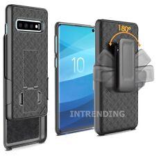 for Samsung Galaxy S10e S10 S10+ S105G Slim Strong Belt Clip Holster Black Case