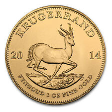 2014 1 oz Gold South African Krugerrand Coin Brilliant Uncirculated - SKU #79033