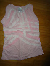 33 LIGHTS Girls Pink & White Stripped Sleevless Top Size 4 -5 Large