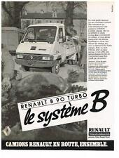 PUBLICITE ADVERTISING  1992   RENAULT   système B   CAMION B90 TURBO