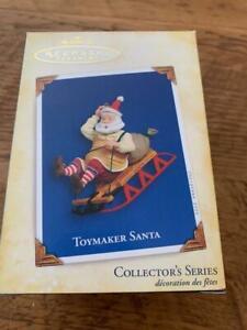 Hallmark Keepsake Ornament 2005 Toymaker Santa Sledding Sled 6th #6 Series