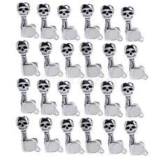 24 Right Skull Guitar Inline Tuning Pegs Keys Machine Heads Tuners Chrome