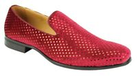 Men's Fancy Dress Casual Shoes Burgundy Slip On Loafers AFTER MIDNIGHT 5842